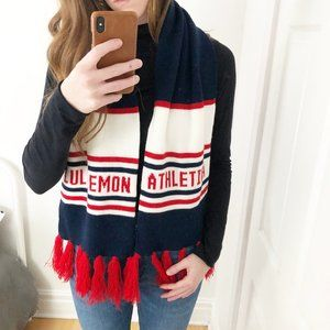 Lululemon Olympic Scarf Striped Tassel Fringe